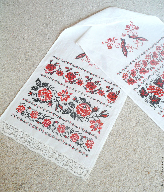 Вышивка рушники роза