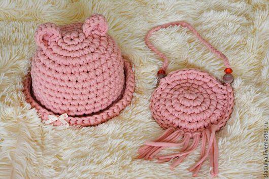 Одежда для девочек, ручной работы. Ярмарка Мастеров - ручная работа. Купить шляпка и сумочка. Handmade. Бежевый, шляпка для девочки