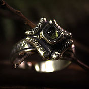Украшения handmade. Livemaster - original item Chrysolite Ring of the