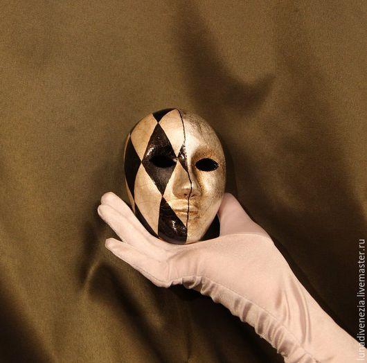 Интерьерные  маски ручной работы. Ярмарка Мастеров - ручная работа. Купить Маска венецианская Вольто Дуо (мини). Handmade. Комбинированный
