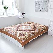 Для дома и интерьера handmade. Livemaster - original item Beige Patchwork single bedspread. Patchwork.. Handmade.