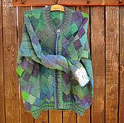 Одежда ручной работы. Ярмарка Мастеров - ручная работа Кардиган мужской Зеленый. Handmade.