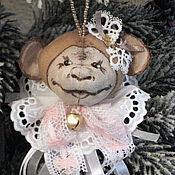 Подарки к праздникам ручной работы. Ярмарка Мастеров - ручная работа Christmas tree Monkey №1. Елочная обезьянка №1. Игрушка на елку.. Handmade.