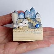 Куклы и игрушки ручной работы. Ярмарка Мастеров - ручная работа Городок на ладошке. Handmade.