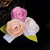 Украшения ручной работы. Ярмарка Мастеров - ручная работа Браслет с цветами из фоамирана. Handmade.