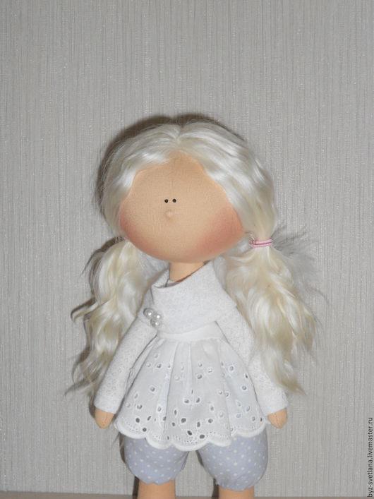 Коллекционные куклы ручной работы. Ярмарка Мастеров - ручная работа. Купить Кукла интерьерная Ангел. Handmade. Белый, текстильная кукла