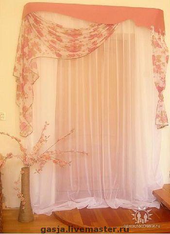 """Текстиль, ковры ручной работы. Ярмарка Мастеров - ручная работа. Купить Ламбрекен """"Розы"""". Handmade. Атлас, атласные ленты, вуаль"""
