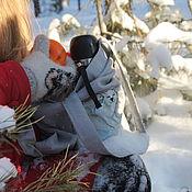 Авоська ручной работы. Ярмарка Мастеров - ручная работа Эко-сумка: белые медведи. Handmade.