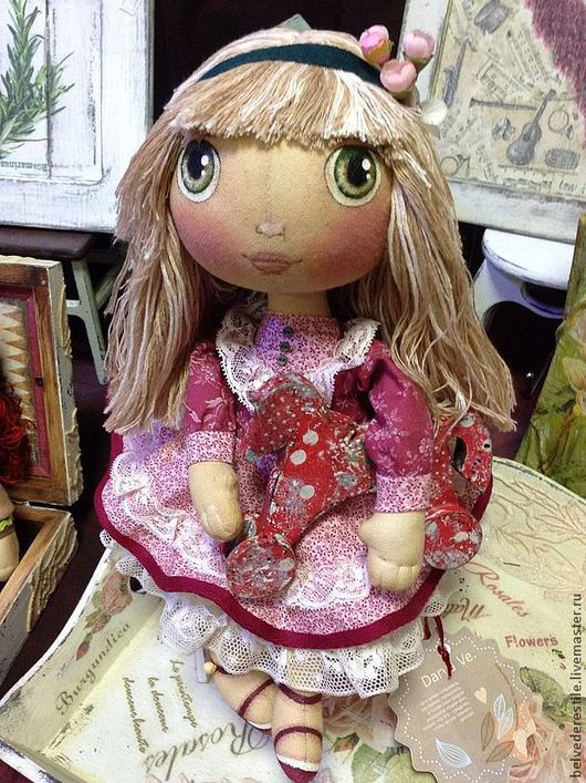 """Куклы тыквоголовки ручной работы. Ярмарка Мастеров - ручная работа. Купить Кукла-тыквоголовка """"Пани Олеся"""". Handmade. Бежевый"""