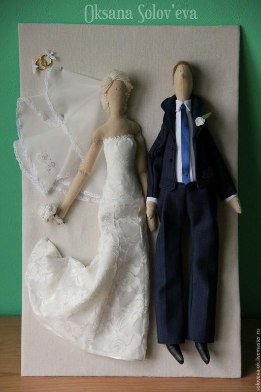 Портретные куклы ручной работы. Ярмарка Мастеров - ручная работа. Купить Свадебная пара в стиле Тильда. Handmade. Чёрно-белый