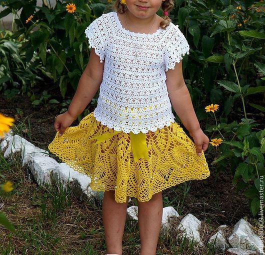 """Одежда для девочек, ручной работы. Ярмарка Мастеров - ручная работа. Купить вязаная юбка  """"Солнышко"""", юбочка крючком, ажурная юбочка. Handmade."""