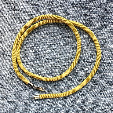 Украшения ручной работы. Ярмарка Мастеров - ручная работа Шнурок 4,0мм текстильный шнурок горчичного цвета, хлоток. Handmade.