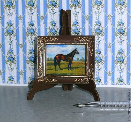 Кукольный дом ручной работы. Ярмарка Мастеров - ручная работа. Купить Миниатюра 1:12. Картины для кабинета. Handmade. Миниатюра