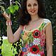"""Топы ручной работы. Ярмарка Мастеров - ручная работа. Купить топ """"Лето"""". Handmade. Хлопок, цветы, ромашки, наборное кружево"""