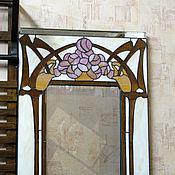 """Для дома и интерьера ручной работы. Ярмарка Мастеров - ручная работа Витраж зеркало """"art nouveau"""". Handmade."""