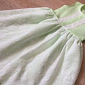 Работы для детей, handmade. Livemaster - original item Linen sundress for girls