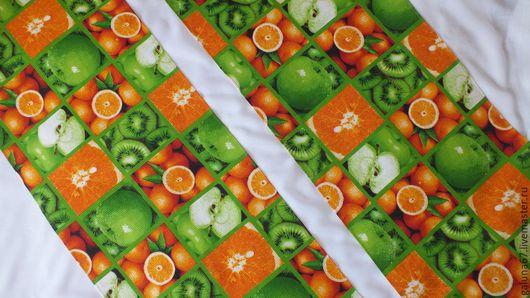 """Кухня ручной работы. Ярмарка Мастеров - ручная работа. Купить """"Сочные фруктовые"""" 2 полотенца вафельных больших. Handmade. Полотенца"""