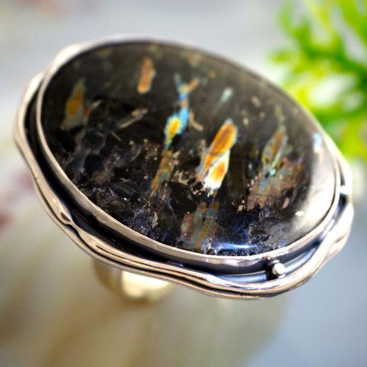 """Кольца ручной работы. Ярмарка Мастеров - ручная работа. Купить Кольцо """"Комета"""" -  нууммит, серебро 925. Handmade. нууммит"""