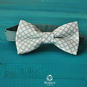 Аксессуары handmade. Livemaster - original item Tie Diamonds / grey white pattern bow tie, Moscow. Handmade.
