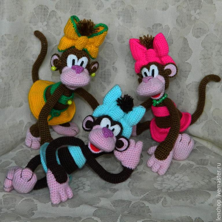 Как вязание обезьяна