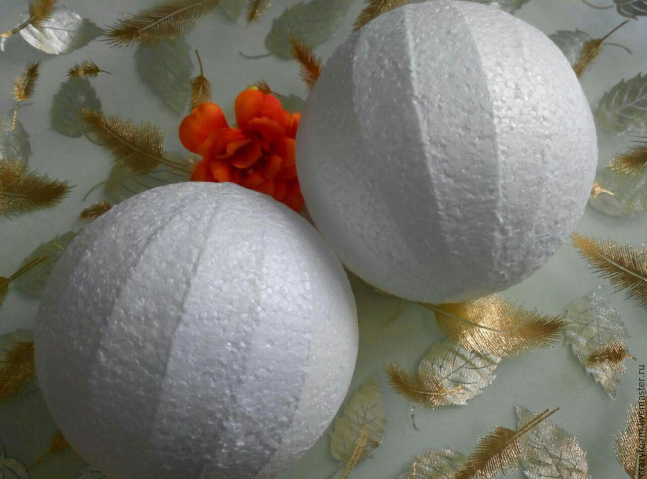 Пенопластовые шары и поделки из них: мастер-классы, идеи и 10