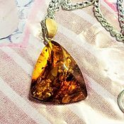 Украшения handmade. Livemaster - original item Amber diamond pendant on a chain Natural amber stone. Handmade.