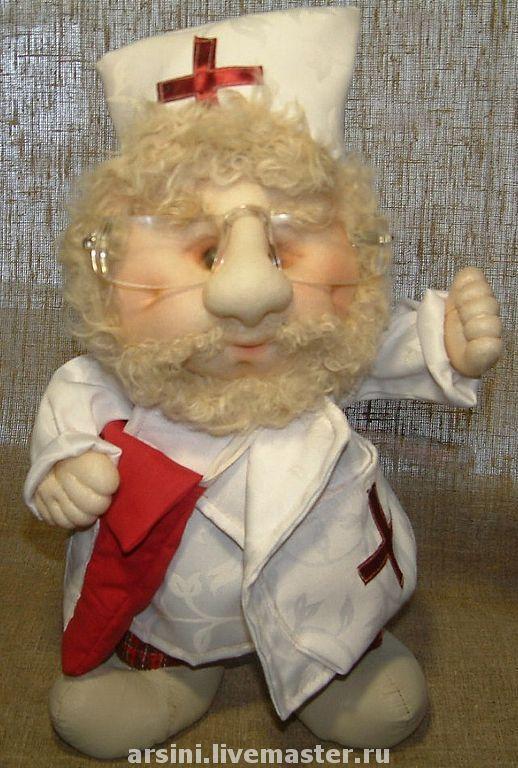 Коллекционные куклы ручной работы. Ярмарка Мастеров - ручная работа. Купить Айболит. Handmade. Айболит, подарок врачу, авторская кукла