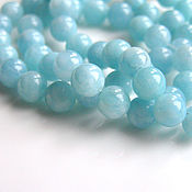 Материалы для творчества handmade. Livemaster - original item Aquamarine beads 6mm. Handmade.