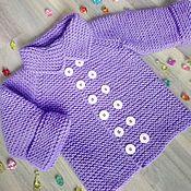 """Одежда ручной работы. Ярмарка Мастеров - ручная работа Пальто для малыша """"Сиреневая нежность"""". Handmade."""