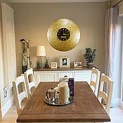 """Часы классические ручной работы. Ярмарка Мастеров - ручная работа Настенные часы """"Византия"""", зеркальный циферблат. Handmade."""