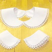 Аксессуары handmade. Livemaster - original item Collar and Cuffs / white. Handmade.