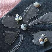 Одежда handmade. Livemaster - original item Skirt suede color graphite. Handmade.