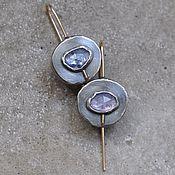 Украшения handmade. Livemaster - original item Tanzanite earrings, silver and Goldfield. Handmade.