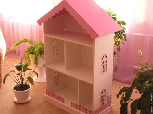 Кукольный дом ручной работы. Ярмарка Мастеров - ручная работа. Купить кукольныйм дом № 15. Handmade. Розовый, барби