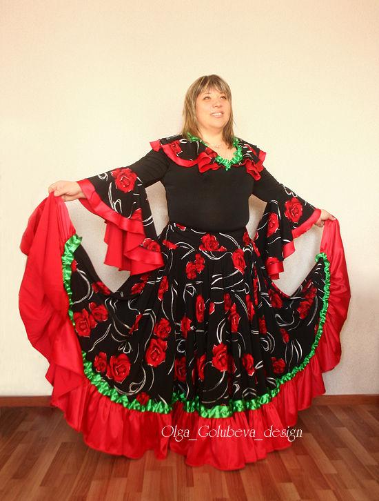 Цыганская юбка двойное солнце