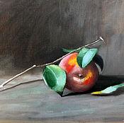 """Картины и панно ручной работы. Ярмарка Мастеров - ручная работа Этюд """"Яблоко"""" - картина маслом фрукты. Handmade."""
