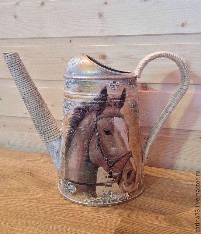 """ручной работы. Ярмарка Мастеров - ручная работа. Купить Лейка""""лошадь"""". Handmade. Лошадь, подарок подруге, новогодний декор, новый год 2014"""