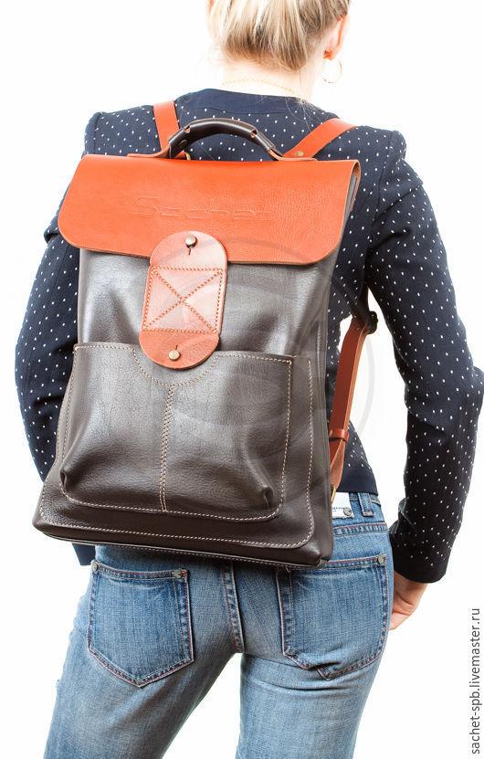 Backpack on the shoulders