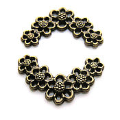 Материалы для творчества handmade. Livemaster - original item Pendant floral motif bronze. Handmade.