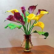 Цветы и флористика handmade. Livemaster - original item Calla lilies bouquet. Handmade.