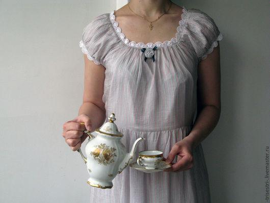 """Платья ручной работы. Ярмарка Мастеров - ручная работа. Купить Платье """"Чайное"""" 2. Handmade. Авторское платье, легкое платье"""