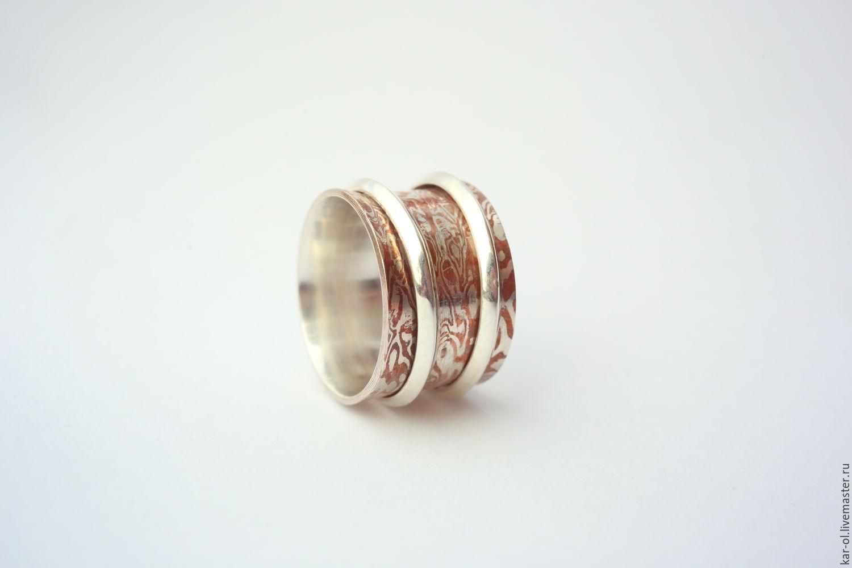Ring Mokume Gane ' Parallels', Rings, Voskresensk,  Фото №1