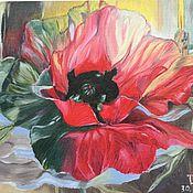 """Картины и панно ручной работы. Ярмарка Мастеров - ручная работа Картина маслом """"Мак"""". картина цветы. картина мак. картина. Handmade."""