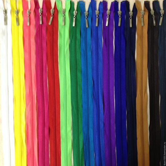 Шитье ручной работы. Ярмарка Мастеров - ручная работа. Купить Молнии разъемные нейлон (спираль) 70 см!!! 15 цветов!!!. Handmade.