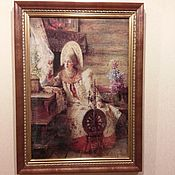 Картины и панно ручной работы. Ярмарка Мастеров - ручная работа Вышивка по картине Константина Маковского. Handmade.