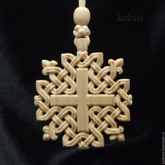 Сувениры ручной работы. Ярмарка Мастеров - ручная работа. Купить Белый резной крест (ясень). Handmade. Крест, в машину, орнамент