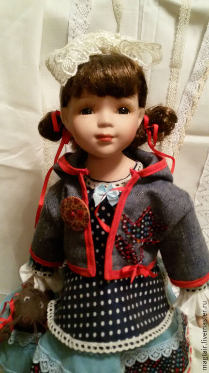 Коллекционные куклы ручной работы. Ярмарка Мастеров - ручная работа. Купить Каори, кукла в стиле бохо-шик. Handmade. Разноцветный