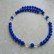 Украшения handmade. Livemaster - original item Necklace of rock crystal and agate with silver 925. Handmade.