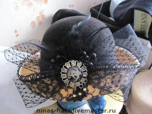 """Шляпы ручной работы. Ярмарка Мастеров - ручная работа. Купить Шляпа из велюра """"Кокетка"""". Handmade. Шляпа, женская шляпа"""