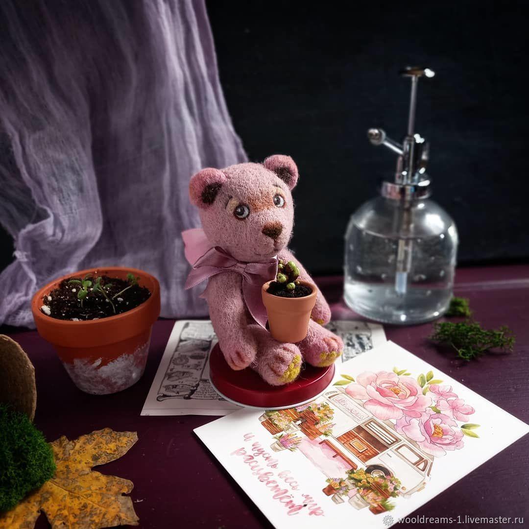 Мишка Розочка, Войлочная игрушка, Новочеркасск,  Фото №1